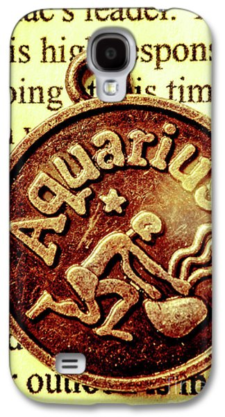 Aquarius Zodiac Sign Galaxy S4 Case