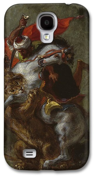 Arab Horseman Attacked By A Lion Galaxy S4 Case
