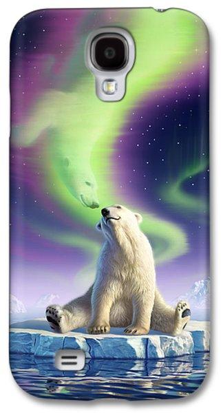Polar Bear Galaxy S4 Case - Arctic Kiss by Jerry LoFaro