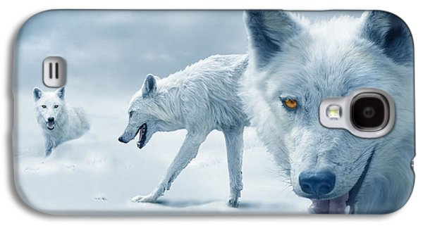 Arctic Wolves Galaxy S4 Case by Mal Bray