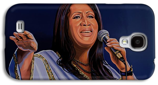 Aretha Franklin Painting Galaxy S4 Case