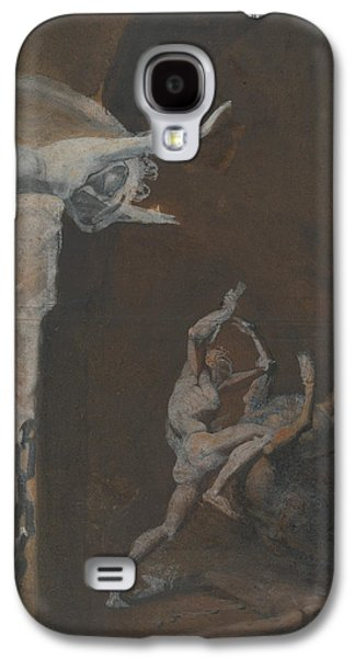 Ariadne Watching The Struggle Of Theseus With The Minotaur Galaxy S4 Case by Henry Fuseli
