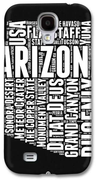 Arizona Black And White Word Cloud Map Galaxy S4 Case by Naxart Studio