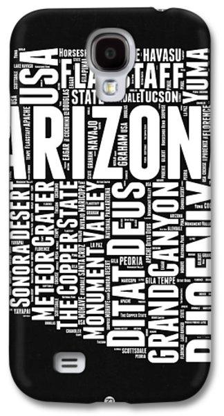 Arizona Black And White Word Cloud Map Galaxy S4 Case by Naxart Studio
