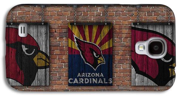 Arizona Cardinals Brick Wall Galaxy S4 Case by Joe Hamilton