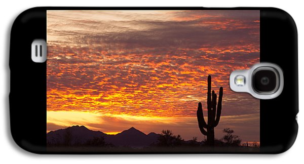 Arizona November Sunrise With Saguaro   Galaxy S4 Case