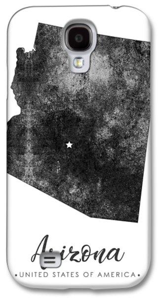 Arizona State Map Art - Grunge Silhouette Galaxy S4 Case