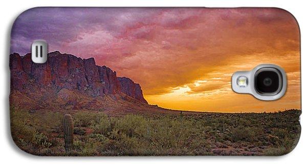 Desert Sunset Galaxy S4 Case - Arizona Sunset by Jon Berghoff
