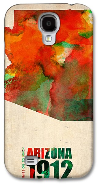 Arizona Watercolor Map Galaxy S4 Case by Naxart Studio
