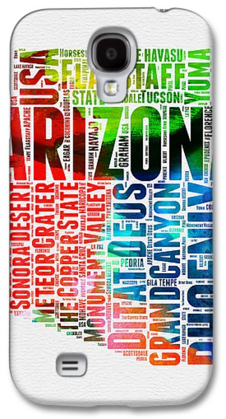 Arizona Watercolor Word Cloud Map  Galaxy S4 Case
