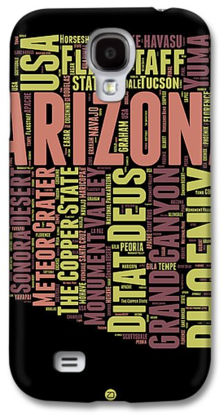 Arizona Word Cloud Map 1 Galaxy S4 Case by Naxart Studio