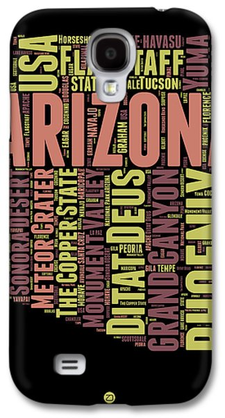 Arizona Word Cloud Map 1 Galaxy S4 Case