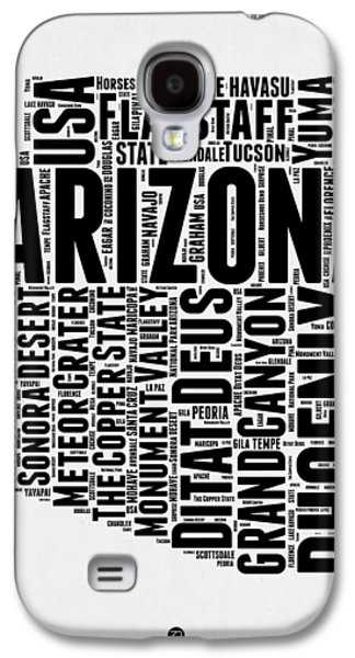 Arizona Word Cloud Map 2 Galaxy S4 Case by Naxart Studio