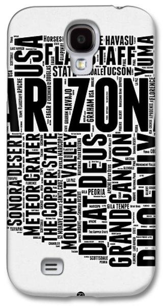 Arizona Word Cloud Map 2 Galaxy S4 Case by Naxart Studio