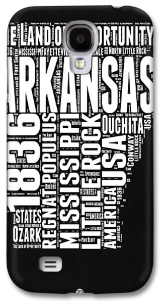 Arkansas Black And White Map Galaxy S4 Case