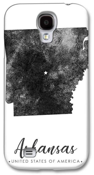 Arkansas State Map Art - Grunge Silhouette Galaxy S4 Case