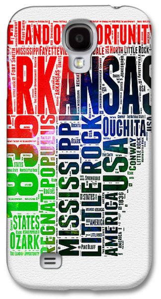 Arkansas Watercolor Word Cloud  Galaxy S4 Case by Naxart Studio