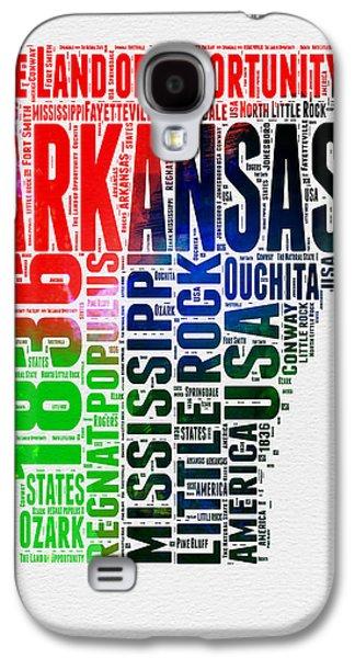 Arkansas Watercolor Word Cloud  Galaxy S4 Case
