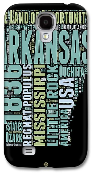 Arkansas Word Cloud 1 Galaxy S4 Case by Naxart Studio