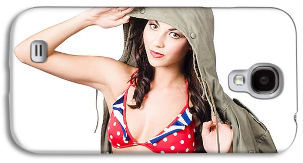 Army Pinup Saluting Retro Fashion In 1940 Style Galaxy S4 Case by Jorgo Photography - Wall Art Gallery