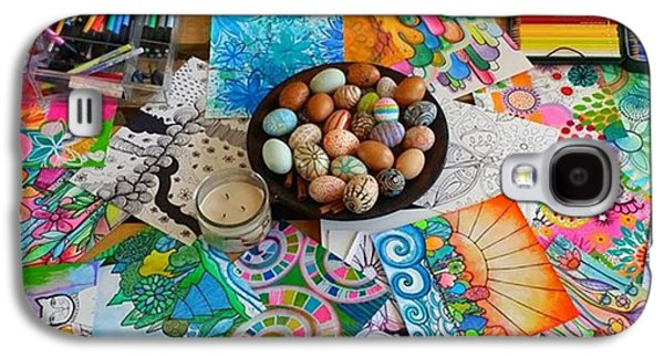 Galaxy S4 Case - #art #artsupplies And #fresheggs..ready by Robin Mead