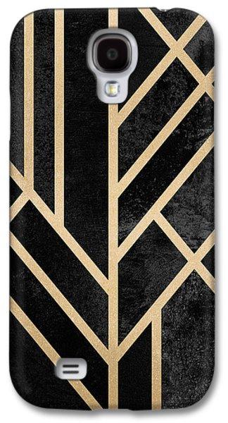 Art Deco Black Galaxy S4 Case by Elisabeth Fredriksson
