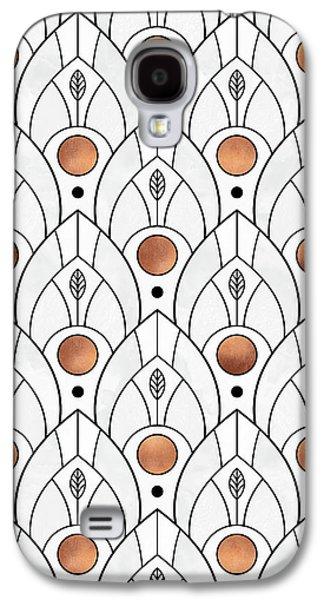 Pattern Galaxy S4 Case - Art Deco Leaves 1 by Elisabeth Fredriksson