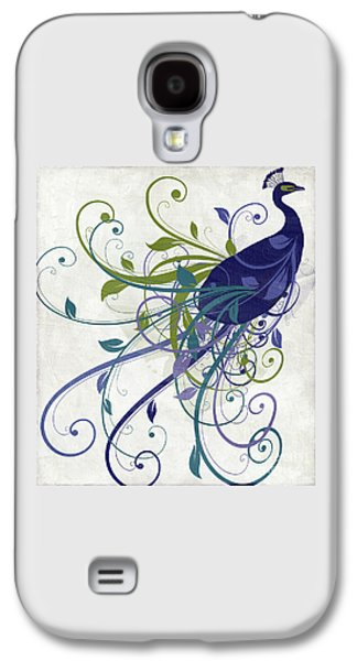 Peacock Galaxy S4 Case - Art Nouveau Peacock I by Mindy Sommers
