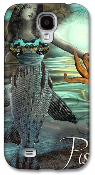 Art Nouveau Zodiac Pisces Galaxy S4 Case by Mindy Sommers