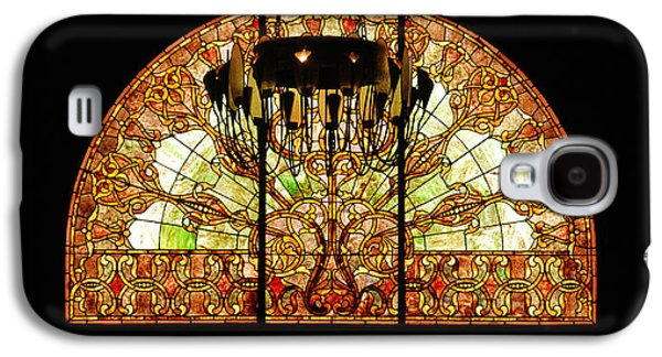 Artful Stained Glass Window Union Station Hotel Nashville Galaxy S4 Case by Susanne Van Hulst