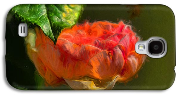 Artistic Rose And Leaf Galaxy S4 Case