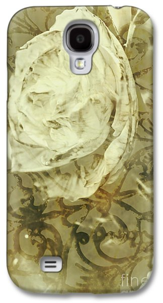 Artistic Vintage Floral Art With Double Overlay Galaxy S4 Case