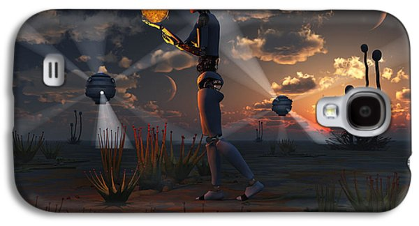 Virtual Galaxy S4 Cases - Artists Concept Of A Quest To Find New Galaxy S4 Case by Mark Stevenson