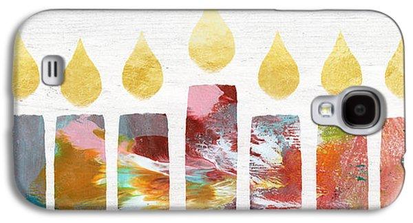 Artists Menorah- Art By Linda Woods Galaxy S4 Case by Linda Woods