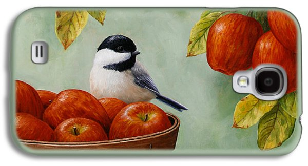 Apple Chickadee Greeting Card 1 Galaxy S4 Case by Crista Forest