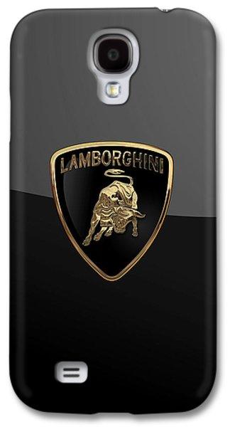 Lamborghini - 3d Badge On Black Galaxy S4 Case by Serge Averbukh