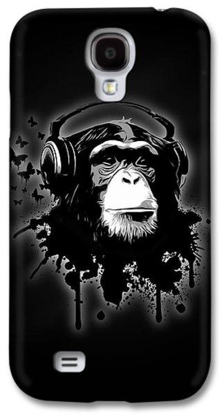 Monkey Business - Black Galaxy S4 Case by Nicklas Gustafsson