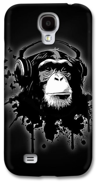 Monkey Business - Black Galaxy S4 Case by Nicklas Gustafsson