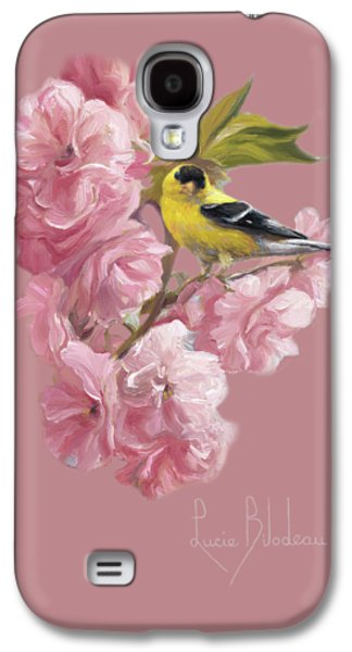 Finch Galaxy S4 Case - Spring Blossoms by Lucie Bilodeau