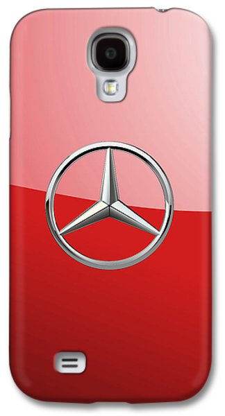 Mercedes-benz - 3d Badge On Red Galaxy S4 Case by Serge Averbukh
