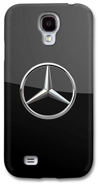 Mercedes-benz - 3d Badge On Black Galaxy S4 Case by Serge Averbukh