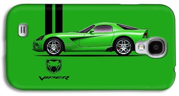 Dodge Viper Snake Green Galaxy S4 Case by Mark Rogan