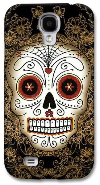 Vintage Sugar Skull Galaxy S4 Case