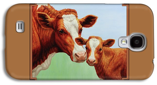 Cow Galaxy S4 Case - Cream And Sugar by Crista Forest