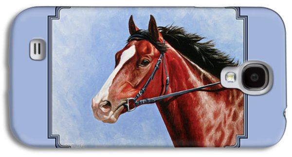 Horse Painting - Determination Galaxy S4 Case