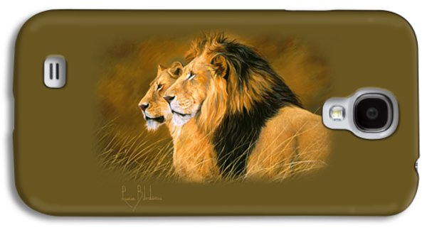 Lion Galaxy S4 Case - Side By Side by Lucie Bilodeau
