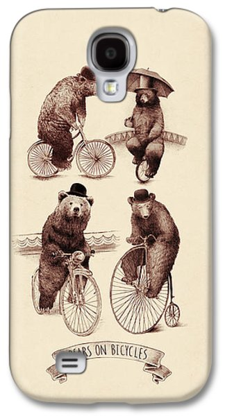 Bears On Bicycles Galaxy S4 Case
