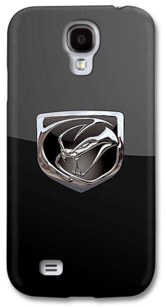 Dodge Viper - 3d Badge On Black Galaxy S4 Case by Serge Averbukh