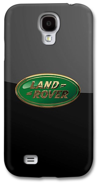Land Rover - 3d Badge On Black Galaxy S4 Case by Serge Averbukh