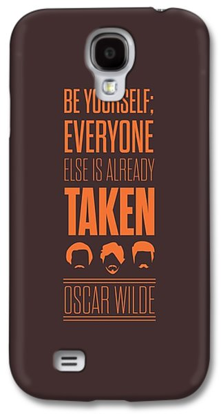 Oscar Wilde Quote Typographic Art Print Poster Galaxy S4 Case
